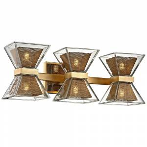 "Troy Expression 20"" Wide Gold Leaf 6-Light LED Bath Light - Style # 23W70"