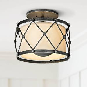 "Troy Palisade 14"" Wide Aged Pewter Ceiling Light - Style # 23X07"