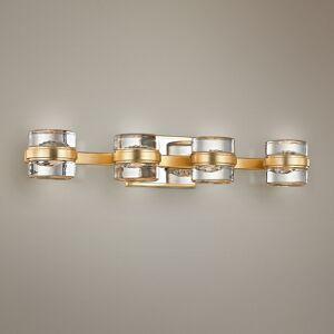 "Troy Splash 25 1/4"" Wide Gold Leaf 4-Light LED Bath Light - Style # 23X60"