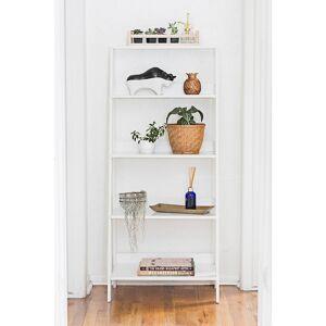 "Universal Lighting and Decor Fargo 55"" High White Wood 4-Shelf Ladder Bookshelf - Style # 24W73"