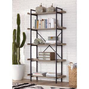 "Universal Lighting and Decor Urban Pipe 68"" High Gray Driftwood 5-Shelf Bookshelf - Style # 24W84"