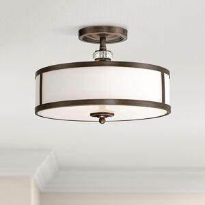 "Minka Lavery Thorndale 15"" Wide Dark Noble Bronze Ceiling Light - Style # 2W952"