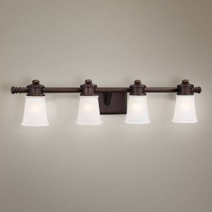 "Minka Lavery 4-Light 31 3/4"" Wide Bath Fixture in Brushed Bronze - Style # 2W974"