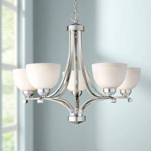 """Minka Lavery Paradox Brushed Nickel 27"""" Wide 5-Light Chandelier - Style # 42912"""