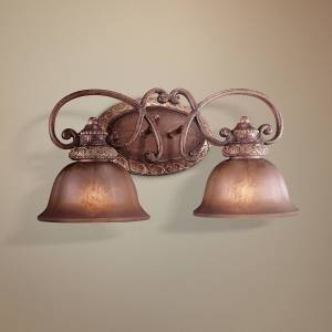 "Minka Lavery Illuminati Collection 20"" Wide Bronze 2-Light Bath Light - Style # 62834"