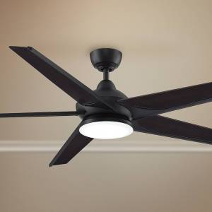 "Fanimation 72"" Fanimation Subtle Dark Bronze LED Damp Ceiling Fan - Style # 72H04"