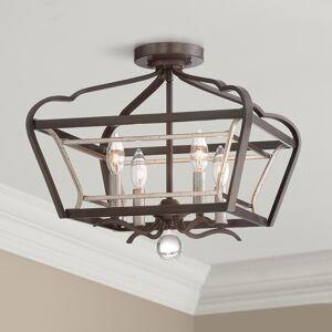 "Minka Lavery Astrapia 16""W Dark Rubbed Sienna 4-Light Ceiling Light - Style # 8K477"