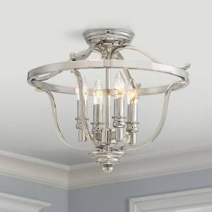 """Minka Lavery Audrey's Point 17 1/4"""" Wide Polished Nickel Ceiling Light - Style # 9G902"""