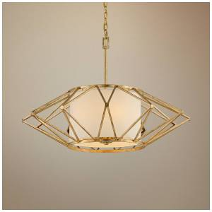 """Troy Calliope 34"""" Wide Rustic Gold Leaf Pendant Light - Style # 9K862"""