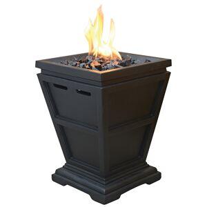 "Endless Summer Slate 15"" High Propane Gas Column Fire Pit - Style # 85K39"