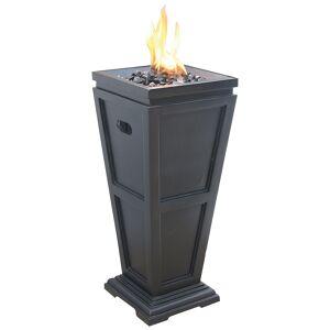 "Endless Summer Slate 27 3/4"" High Propane Gas Column Fire Pit - Style # 85K41"
