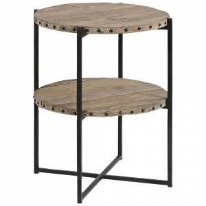"Uttermost Kamau 19 3/4"" Wide Rustic Reclaimed Wood Accent Table - Style # 16E37"