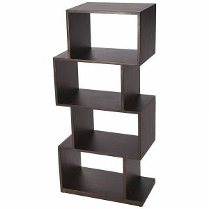 Butler Stockholm Coffee Brown Wood 4-Shelf Bookcase Etagere - Style # 77J65