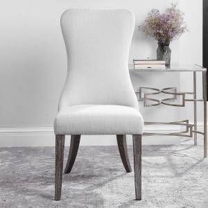 Uttermost Caledonia White Armless Chair - Style # 83W61