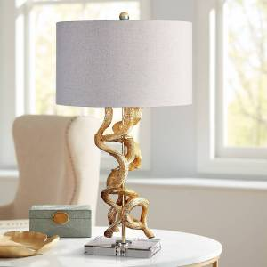 Uttermost Twisted Vines Bright Gold Leaf Table Lamp - Style # 1G135