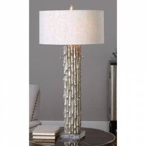 Uttermost Silver Bamboo Antiqued Metallic Table Lamp - Style # 1G219