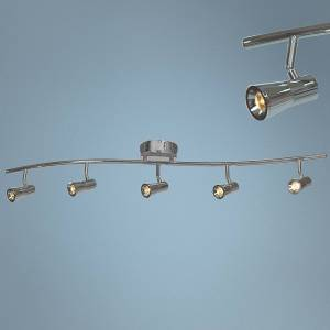 Access Sleek 5-Light Brushed Steel LED Track Fixture - Style # 24V99