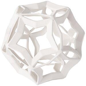 """Regina Andrew Cassius 7 3/4"""" High White Geometric Sculpture - Style # 31M56"""