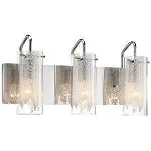 """Elan Krysalis 19 3/4"""" Wide Chrome Bathroom Light - Style # 4H498"""