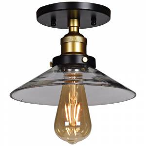 """Access The District 8 1/2"""" Wide Black and Gold LED Ceiling Light - Style # 58W07"""