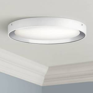 """Elan Incus 19 3/4"""" Wide White and Chrome LED Ceiling Light - Style # 64M72"""