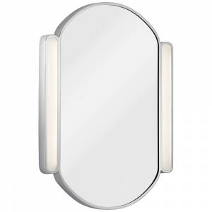 "Universal Lighting and Decor Elan Phaelan Chrome 23 1/4"" x 29 3/4"" Oval LED Mirror - Style # 69E53"