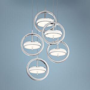 "Elan Metro 11 3/4""W Polished Nickel LED Multi Light Pendant - Style # 69E93"