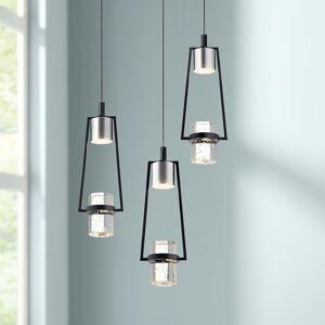 """Elan Sorno 12 1/2""""W Polished Nickel LED Multi Light Pendant - Style # 69F17"""