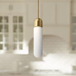 "Elan Pills 3 1/4"" Wide Champagne Gold LED Mini Pendant - Style # 69F21"