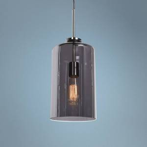 "Access Simplicite 7"" Wide Black Nickel and Glass LED Mini Pendant - Style # 69Y66"