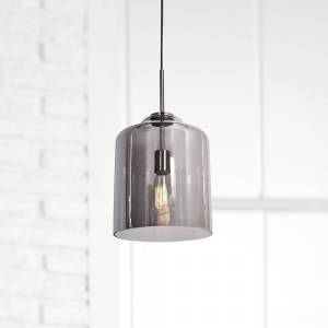 "Access Simplicite 9 1/2""W Black Nickel and Glass LED Mini Pendant - Style # 69Y69"