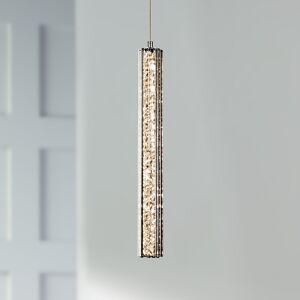 "Elan Neruda 2 1/4"" Wide Chrome Contemporary LED Mini Pendant - Style # 6N297"