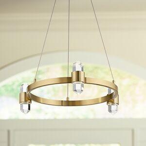 "Kichler Arabella 20 1/2""W Champagne Gold 6-Light LED Crystal Pendant - Style # 75A22"