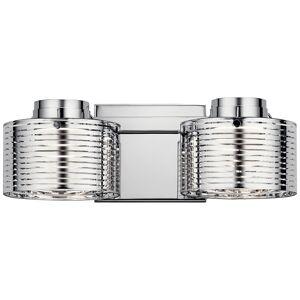 "Elan Santora 5"" High Polished Chrome 2-Light LED Wall Sconce - Style # 75F62"