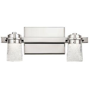"Elan Vada 6 1/4""H Polished Nickel 2-Light LED Wall Sconce - Style # 75F70"