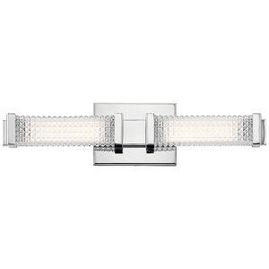"Elan Ammiras 20"" Wide Chrome 2-Light LED Bath Light - Style # 75F72"