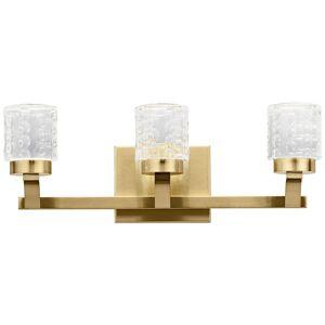 "Elan Rene 19 1/4"" Wide Champagne Gold 3-Light LED Bath Light - Style # 75F73"