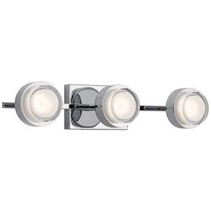 "Elan Harlaw 22"" Wide Chrome 3-Light LED Bath Light - Style # 75F81"