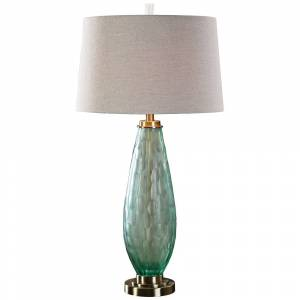 Uttermost Lenado Frosted Sea Green Glass Table Lamp - Style # 7W431