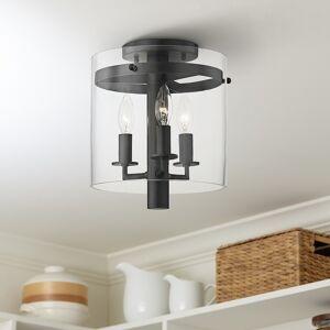 "Hudson Valley Baxter 10""W Old Bronze 3-Light Ceiling Light - Style # 81G12"