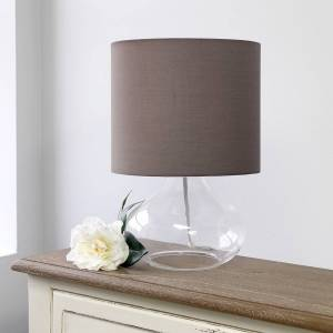 """Universal Lighting and Decor Simple Designs 13 1/2""""H Clear Glass Gray Accent Table Lamp - Style # 85W76"""