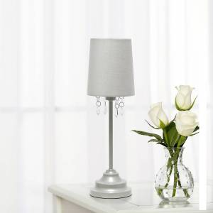 "Universal Lighting and Decor Simple Designs 16 1/2"" High Gray Metal Accent Table Lamp - Style # 85W88"