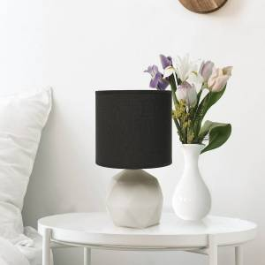 """Universal Lighting and Decor Simple Designs 10 1/2""""H Black Shade Gray Accent Table Lamp - Style # 89E05"""