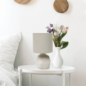 """Universal Lighting and Decor Simple Designs 10 1/2"""" High Gray Geometric Accent Table Lamp - Style # 89E16"""