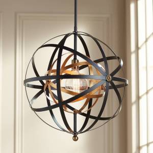 "Uttermost Rondure 23"" Wide Bronze and Brass Pendant - Style # 8P360"