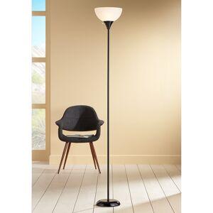360 Lighting Bailey Black Torchiere Floor Lamp - Style # 9H964