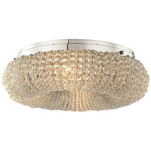 "Elk Crystal Ring 13"" Wide Polished Chrome 4-Light Ceiling Light - Style # 9X463"