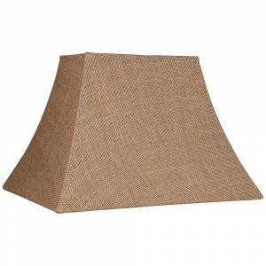 Brentwood Natural Burlap Rectangle Lamp Shade 5/8x11/14x10 (Spider) - Style # U0888