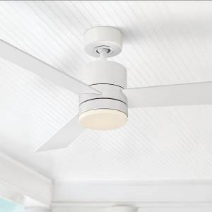 "Modern Forms 52"" Modern Forms Axis Matte White LED Wet Ceiling Fan - Style # 58W46"