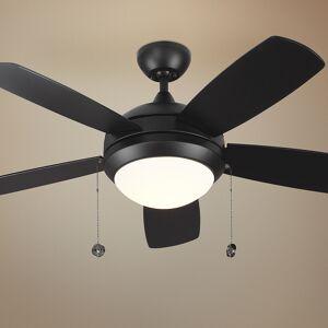 "Monte Carlo 44"" Monte Carlo Discus II Matte Black LED Ceiling Fan - Style # 67P69"